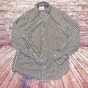 Lucky Brand | green checkered classic  button down